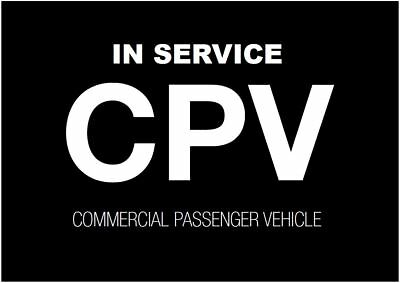 1 or 2 X CPV commercial passenger vehicle Victoria Sticker sign for WINDSHIELD