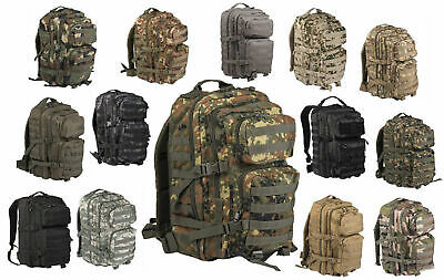 Mil-Tec US Assault Pack 20-36L Tarn Rucksack Outdoor Army Armee Backpack Tasche