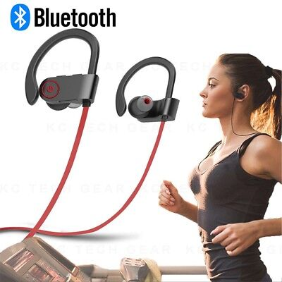 Sweatproof Wireless Bluetooth Stereo Headset Headphones Sport Earbuds Earphones`