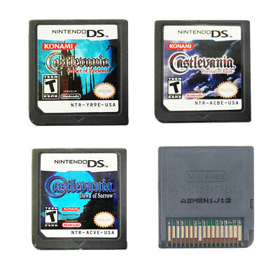 Castlevania: Dawn of Sorrow/Portrait Ruin/Order Ecclesia Game Card for 3DS NDSXL