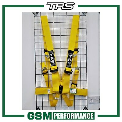 TRS Magnum 6 Point Superlite FIA Harness Belt - 2022 Dating - Yellow