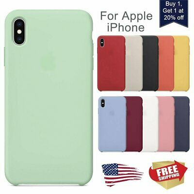 For iPhone XS Max XR X 8Plus 7Plus Cover Shockpoof Genuine Quality Silicone Case