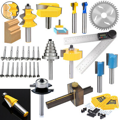 "1 Kit 1/2"" Height with 6 Bearings Rabbet Router Bit & Bearing Set 1/4"" Shank"
