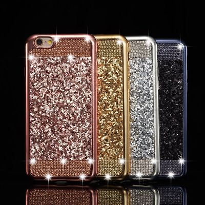 Luxury Bling Glitter Diamond Soft TPU Case Skin Cover For Samsung A6 A8 J6 + S8+