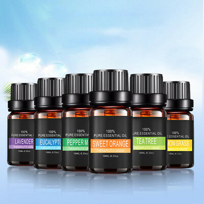 6pack Essential Oils Set 100% Pure Aromatherapy Oil Kit - Gift Set 10 ML