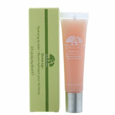 Origins Drink Up Hydrating Lip Balm 15ml - Nude Nectarine 01 - NEW.