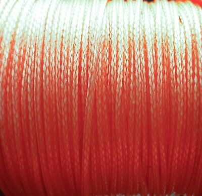 12 Strand Dyneema Cord. Salmon Pink. 1mm or 2mm. Various Lengths.