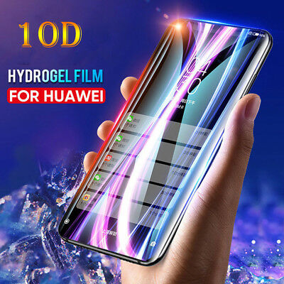 Genuine 10D Full Screen Protector Hydrogel Film For Huawei P10 Mate 20 Pro Lite