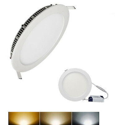 Downlight Panel LED Empotral Redondo Circular 20W 3000K 4000K 6000K Envio Gratis