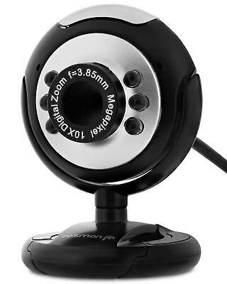 USB HD Web Cam Camera & Microphone Mic For Yahoo Skype Laptop Pc mobile uk