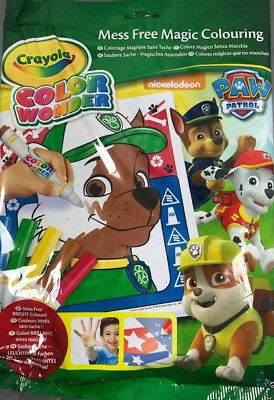 Crayola Paw Patrol Colour Wonder 18 Page Colouring Pad and 5 Mess Free Markers