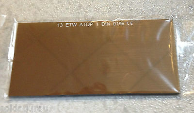 Filter Welding glass Mirroring gold coloured 108x51x3 mm T. 13 Screen Welder