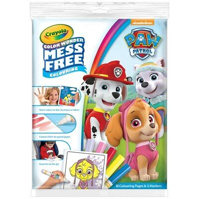 Crayola Paw Patrol Color Wonder Magic Mess Free Colouring Book & Pens (w)
