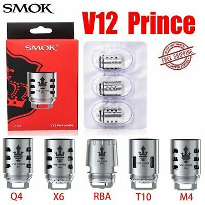 3pcs SMOK Replacement V12 Prince Q4/M4/X6/T10 Core Coils For TFV12 Prince tank