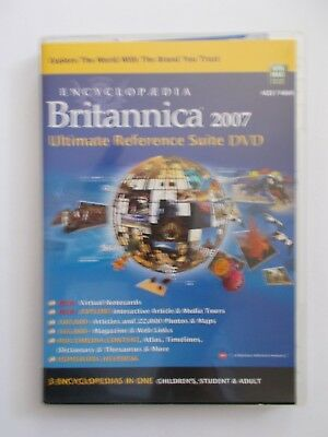 - Encyclopedia Britannica 2007 [Dvd Rom] Children's, Students & Adult [29.75]
