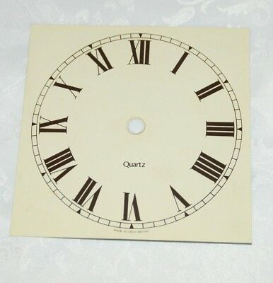 "5.5"" Replacement QUARTZ Clock Face/Dial - Aluminium"