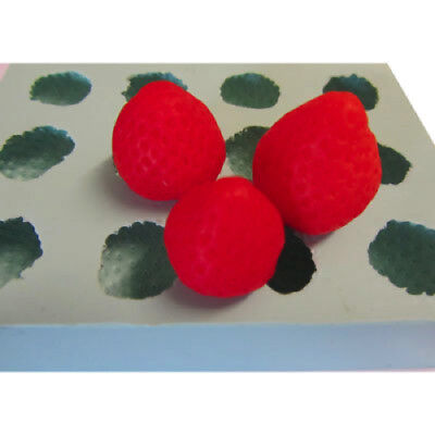 New Strawberry Embed Soap / Wax Silicone 12 Cavity Mould