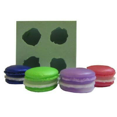 New Macaroon Embed Soap / Wax Silicone 4 Cavity Mould - Small