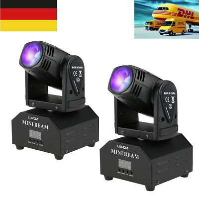 2pcs Mini 50W RGBW Moving Head LED Bühnen effekt Lampe DMX512 11/13CH Licht R9P6
