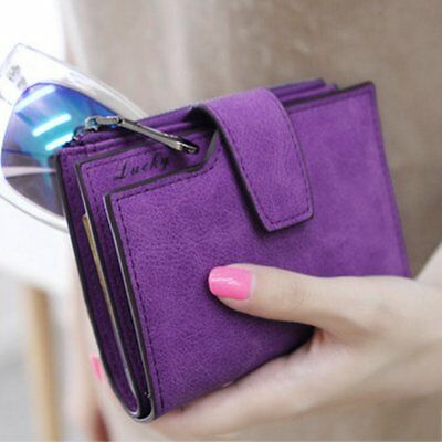 Vint Design Zipper Hasp Wallet Women Leather Female Purse Lady Matte Clutch193OK