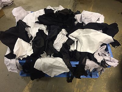 10kg Black And Pearl Genuine Leather Scraps/ Off Cuts/ Remnants / Pieces / Scrap