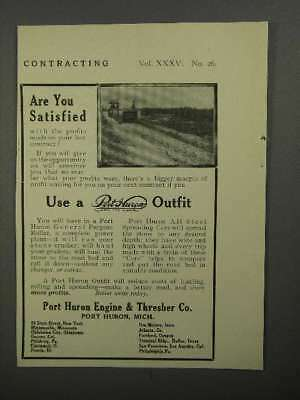 1911 Port Huron Engine & Thresher Co. Outfit Ad