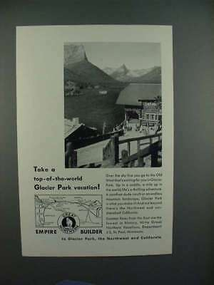 1932 Great Northern Railroad Ad - Top-of-the-world