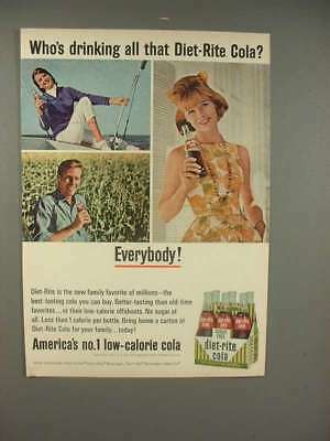 1965 Diet-Rite Cola Soda Ad - Who's Drinking all that Diet-Rite?