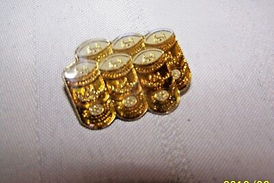 Old Milwaukee  Beer - hat pin , lapel pin , tie tac , hatpin 6 Pack harley rider