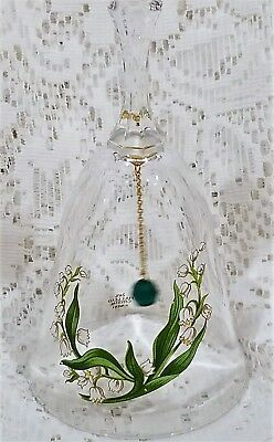 Avon Vintage Lead Crystal Birthday Bell May 1986 Lily of the Valley