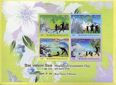 India 2018 MNH World Environment Day 4v M/S Trees Plants Nature Stamps
