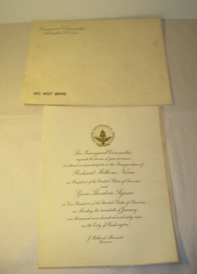 President Richard Nixon & Spiro Agnew 1969 Inauguration Invitation Washington DC