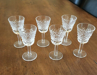 Waterford Crystal ALANA Pattern Crystal Glass Liqueur Cordial Glasses (Set of 6)