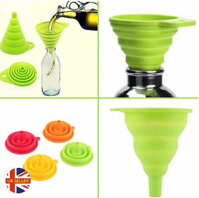Mini Silicone Gel Foldable Collapsable Funnel Hopper Kitchen Cooking Tools