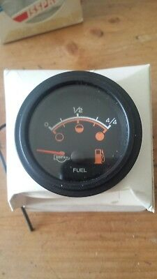 Fuel Gauge Isspro Nos New Old Stock Usa Orange / White Face Classic Car Van