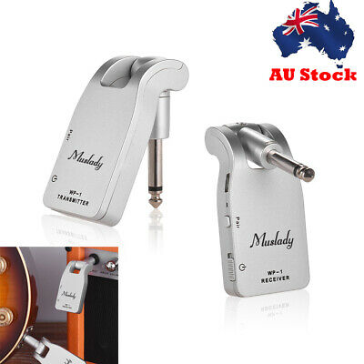 Muslady 2.4G Wireless Guitar System Transmitter & Receiver Rechargeable Battery