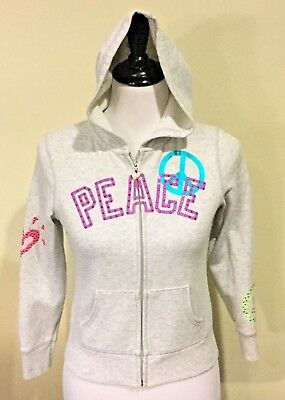 JUSTICE Girls Gray Lightweight Hoodie Jacket w/ Pocket ~ Size 12