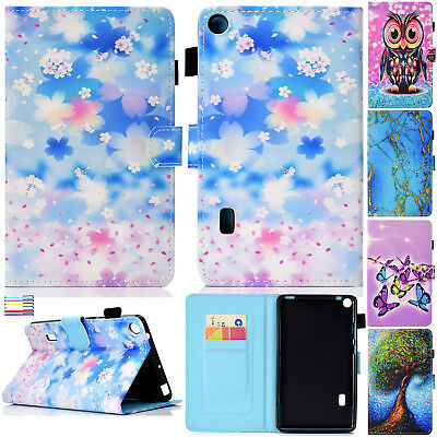 """For Huawei MediaPad T3 7.0/T3 10 9.6"""" Tablet Paint Flip Leather Stand Case Cover"""