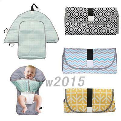 Waterproof Baby's Diaper Changing Mat Travel Home Change Pad 3-in1 Organizer Bag