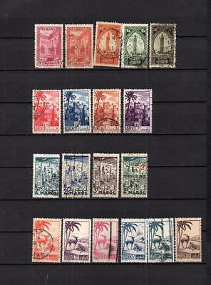 Maroc - French Colonies Set Of Castle - Views Stamps - Used Lot (Mar 99 )