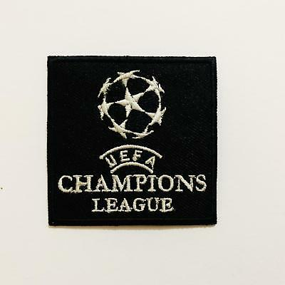 UEFA Champions League Black Logo Football Sports Embroidered Iron on Sew On N504