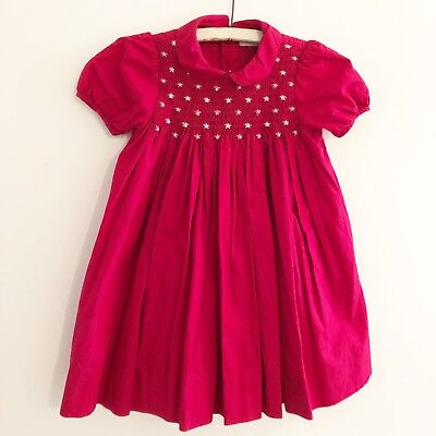 336965b725eb NWT CARRIAGE BOUTIQUE Baby Girls Pink Hand Smocked Dress Sizes 3 6 9 ...