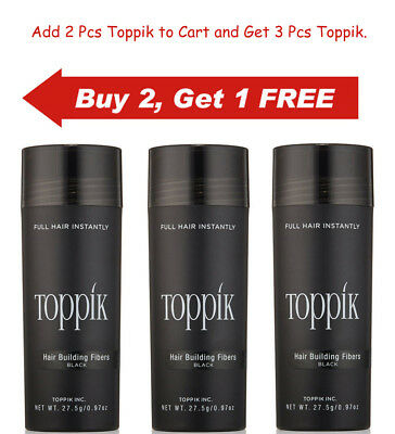 Toppik Hair Building Fibers 27.5 gram BLACK, DARK BROWN, MEDIUM & LIGHT BROWN