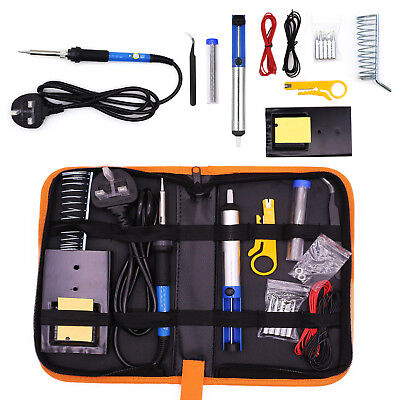 60W Soldering Iron Kit Electronics Welding Irons Tools Adjustable Temperature