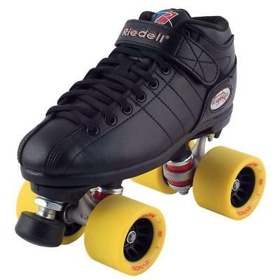 Riedell R3 - Yellow Demon Roller Skate package - 95a Rink setup