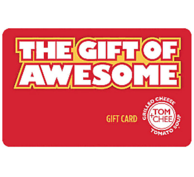 Tom & Chee Gift Card - $25 $50 or $100 - Email delivery