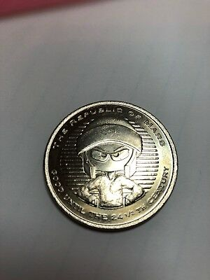 Looney Tunes MARVIN the MARTIAN Coin from NYC WB STORE Silver Dollar Sized