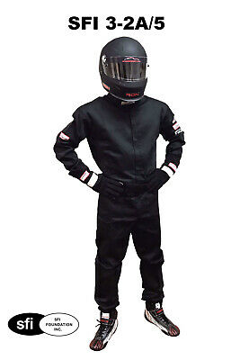 Usac Racing Driving Fire Suit Sfi 3-2A/5 One Piece , Double Layer Adult Large