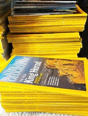 Huge Lot of 146 National Geographic Magazines 2007-2018 + At Least 13 Posters
