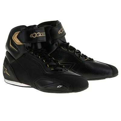 Alpinestars Stella Faster 2 Ladies Motorcycle Shoes Boots Black White & Gold